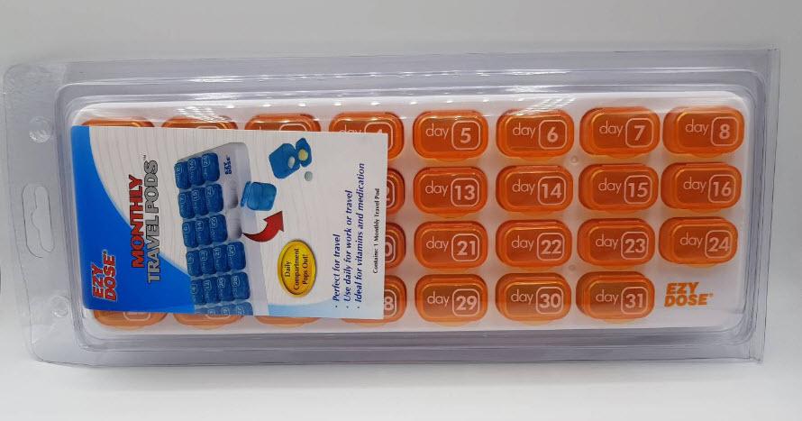 ตลับยา 31 ช่อง สำหรับจัดยา 1 เดือน Monthly Travel Pods