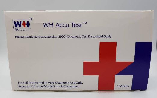 ชุดตรวจการตั้งครรภ์ WH Accu Test (ขายแยก 1 ชุดการทดสอบ) exp 05-2023