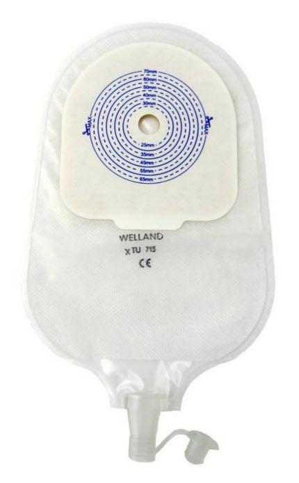 แป้นพร้อมถุงปัสสาวะใส Valore 13-70mm - Welland (XTU713)