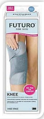 อุปกรณ์พยุงหัวเข่าสำหรับผู้หญิง ฟูทูโร่ รุ่นปรับกระชับได้ Futuro™ Slim Silhouette Knee Stabilizer For Her