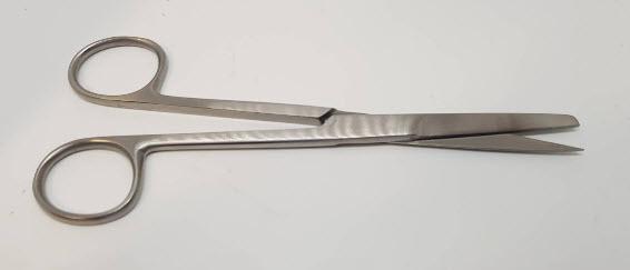 กรรไกร Deaver Scissors sh/bl (แหลม/มน) 14cm ปลายตรง (Hilbro) (10.0036.14)