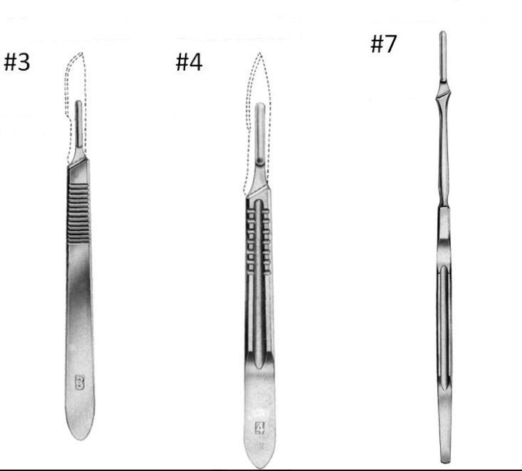 ด้ามมีดผ่าตัดสแตนเลส Scapel Handle - Hilbro