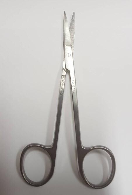 กรรไกรตัดไหม Iris Scissor 9 cm (10.0143.09) (Hilbro) ปลายโค้ง