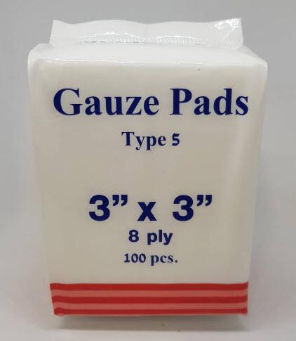 ผ้าก๊อซพับ 8 ชั้น 3x3 นิ้ว (100ชิ้น) MediGauz type 5