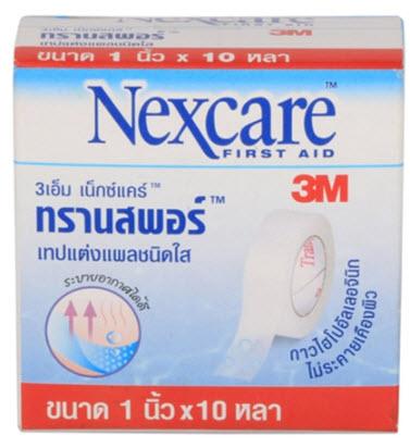 Nexcare Transpore เน็กซ์แคร์ ทรานสพอร์ 1 นิ้ว x 10 หลา
