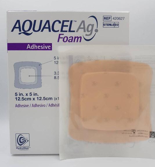 Aquacel Foam Ag+ Adhesive 12.5x12.5 cm [420627]