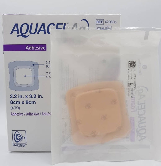 Aquacel Foam Ag+ Adhesive 8x8 cm [420805]