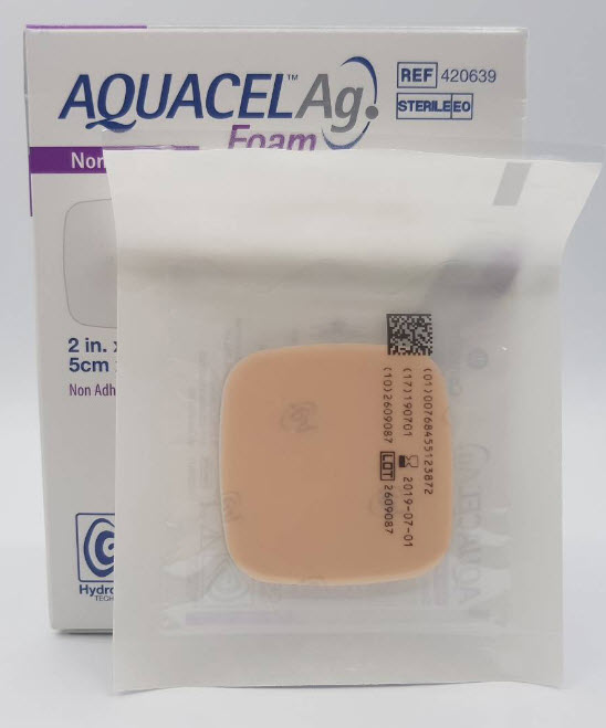 Aquacel Foam Ag+ Non Adhesive 5x5 cm [420639]