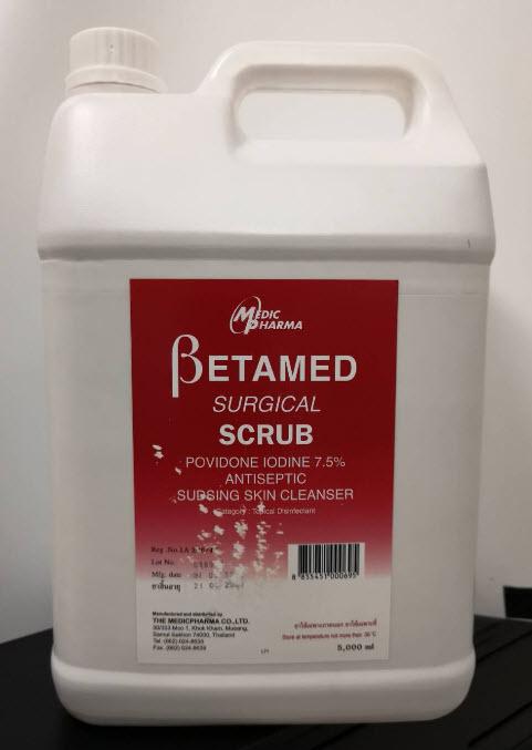 Betamed Surgical Scrub 5,000 mL (exp 03-2024)