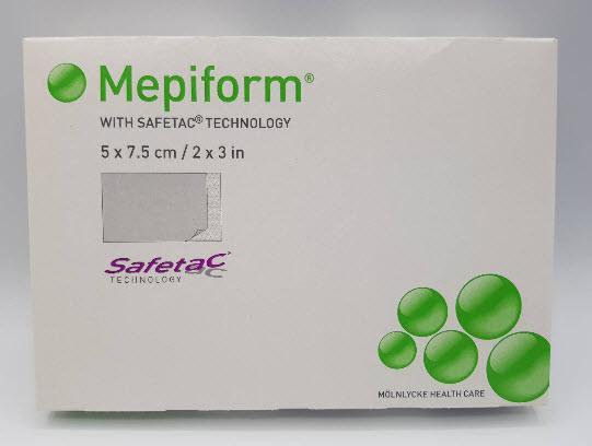 Mepiform Silicone Gel Sheet 5x7.5 cm แผ่นซิลิโคนลดรอยแผลเป็น