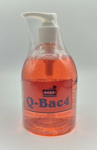 Q-Bac 4 Liquid Soap 300 mL (หัวปั้ม)