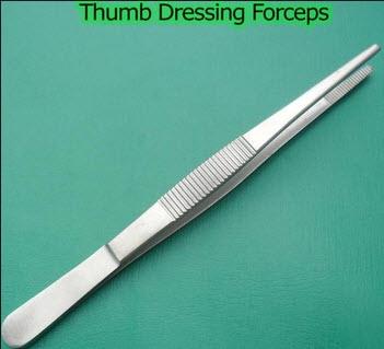 Thumb Dressing Forcep 25 cm - Hilbro (12.0010.25)