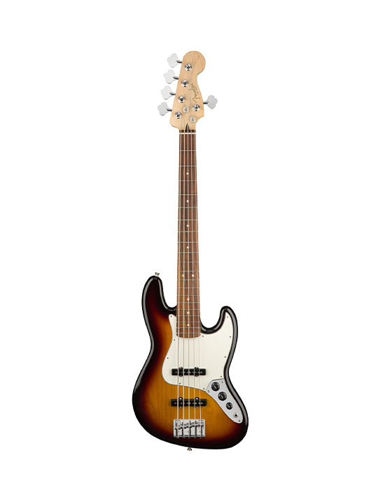 Fender Player Jazz Bass V - 3 Tone Sunburst Pau Ferro Neck
