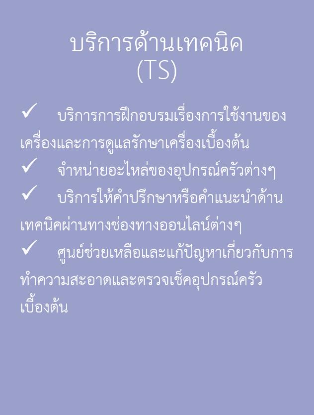 บริการด้านเทคนิค - TS