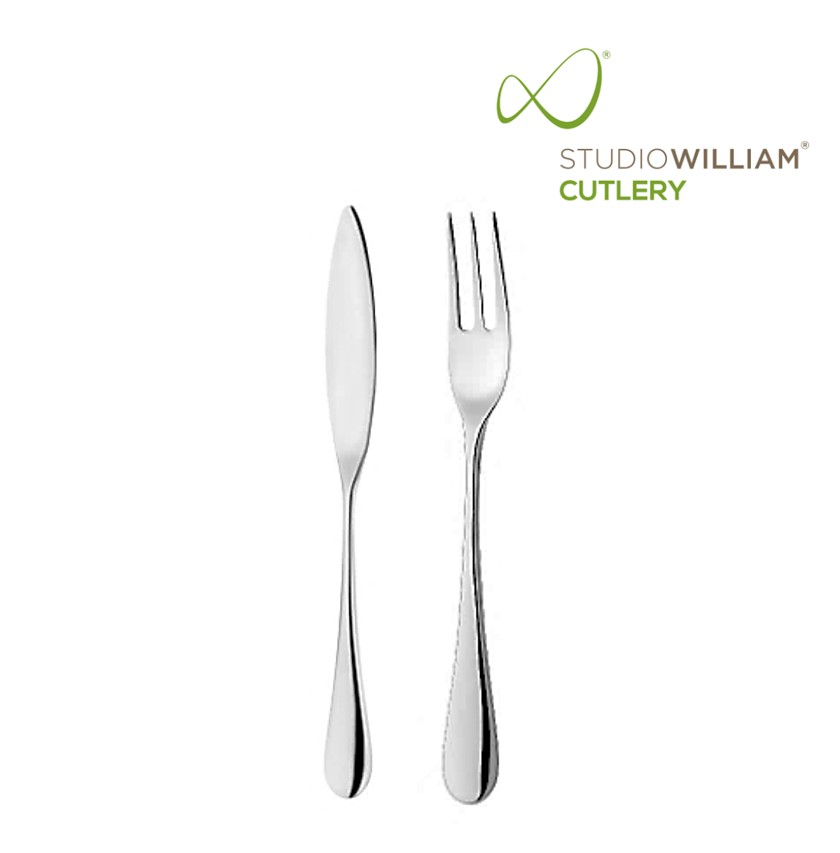 STUDIO WILLIAM Mulberry Mirror - Fish Fork & Knife Set