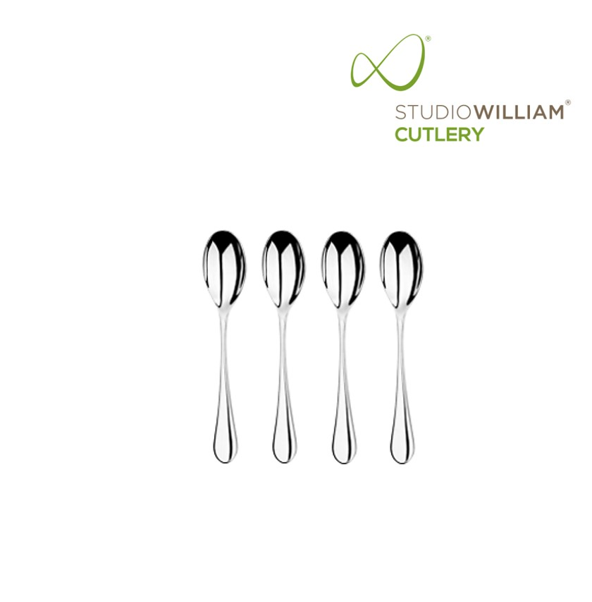 STUDIO WILLIAM Mulberrry Mirror - Coffee Spoon 116 mm. (4 pieces/set)