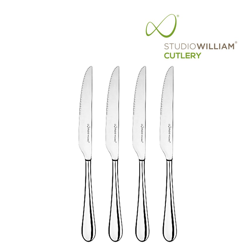 STUDIO WILLIAM MULBERRY MIRROR STEAK KNIFE 245MM