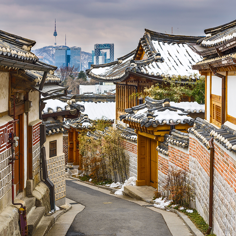 Hanok Village in Seoul South Korea.