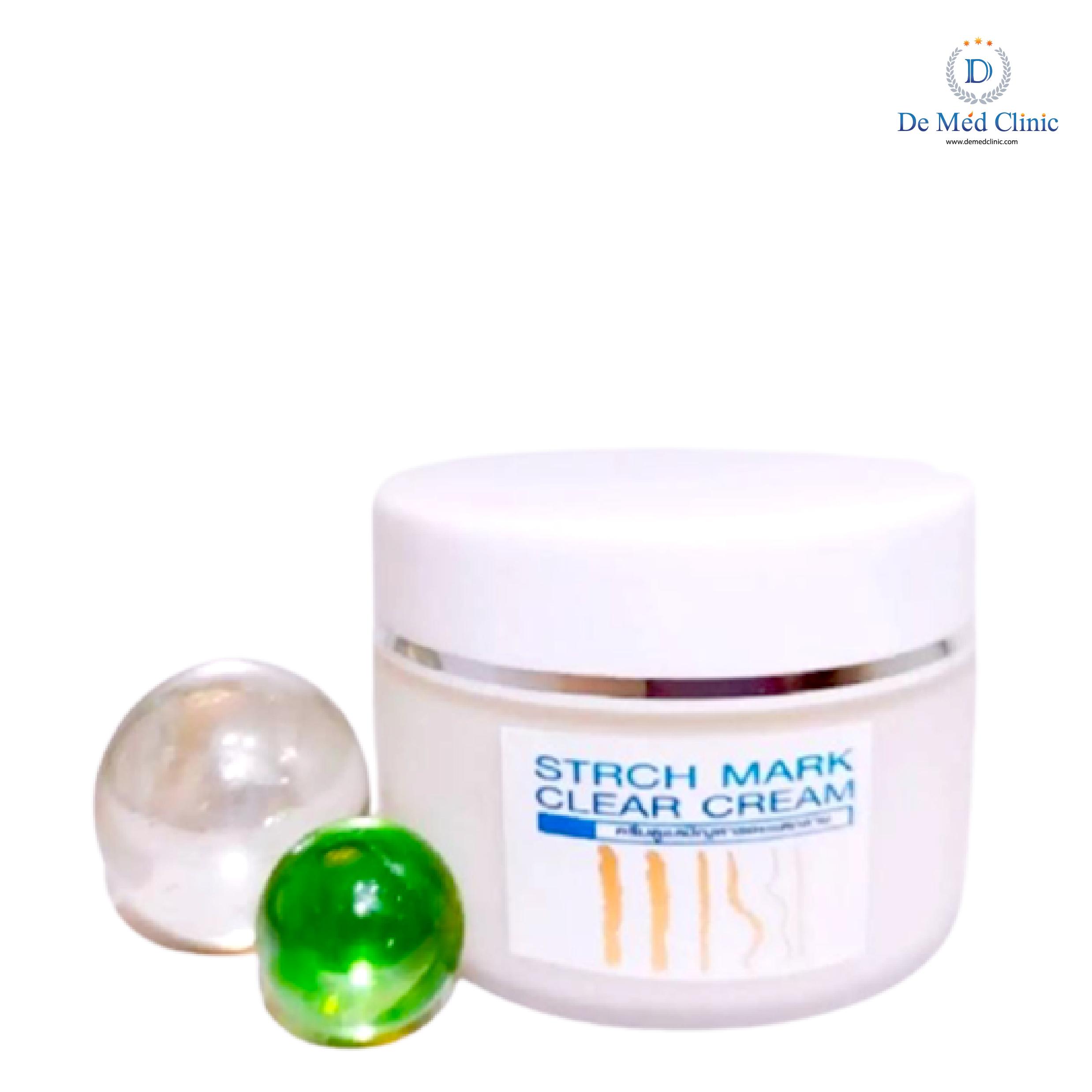 STRETCH MARK Clear CREAM 30 g ครีมบำรุงผิว ลดรอยแตกลายสูตรเข้มข้นพิเศษDeMed Clinic