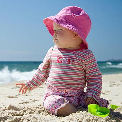 การป้องกันแสงแดดในเด็ก