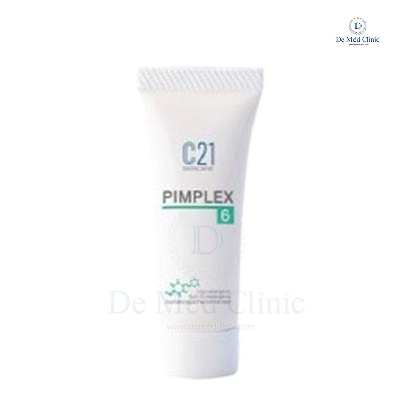 C21 PIMPLEX 6 10 ml. ครีมลดเลือนรอยแดงที่เกิดจากสิว (สำหรับคนหน้ามัน) DeMed Clinic