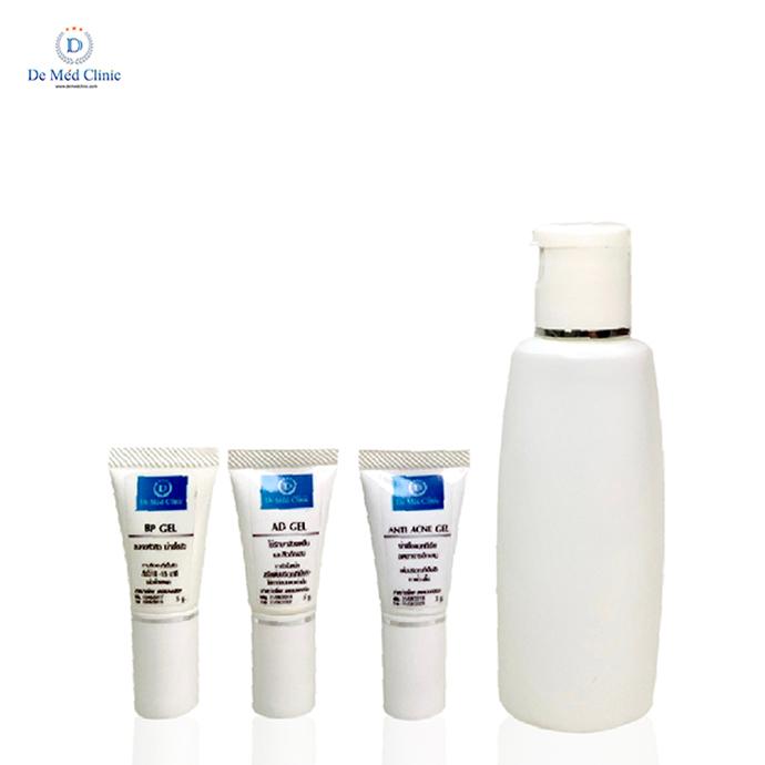 ชุดผลิตภัณฑ์ดูแลสิว Acne Care Set ดูแลสิว อุดตัน อักเสบ รอยดำ รอยแดง อย่างมีประสิทธิภาพ by De Med Clinic
