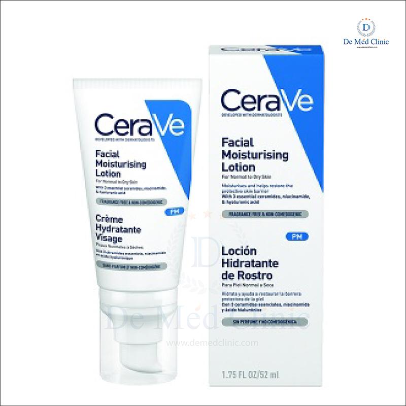 Cerave PM Facial Moisturizing Cream PM ครีมบำรุงผิว เซราวี ดูแลปัญหาผิวมัน สิว DeMed Clinic