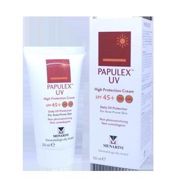 ห้ามพลาด Papulex UV High Protection Cream SPF 47 UVA/UVB พาพูแล็กซ์ ยูวี ไฮ โพรเทคซัน ครีม เอสพีเอฟ 47 #ครีมกันแดด รักษาสิว 50 ml