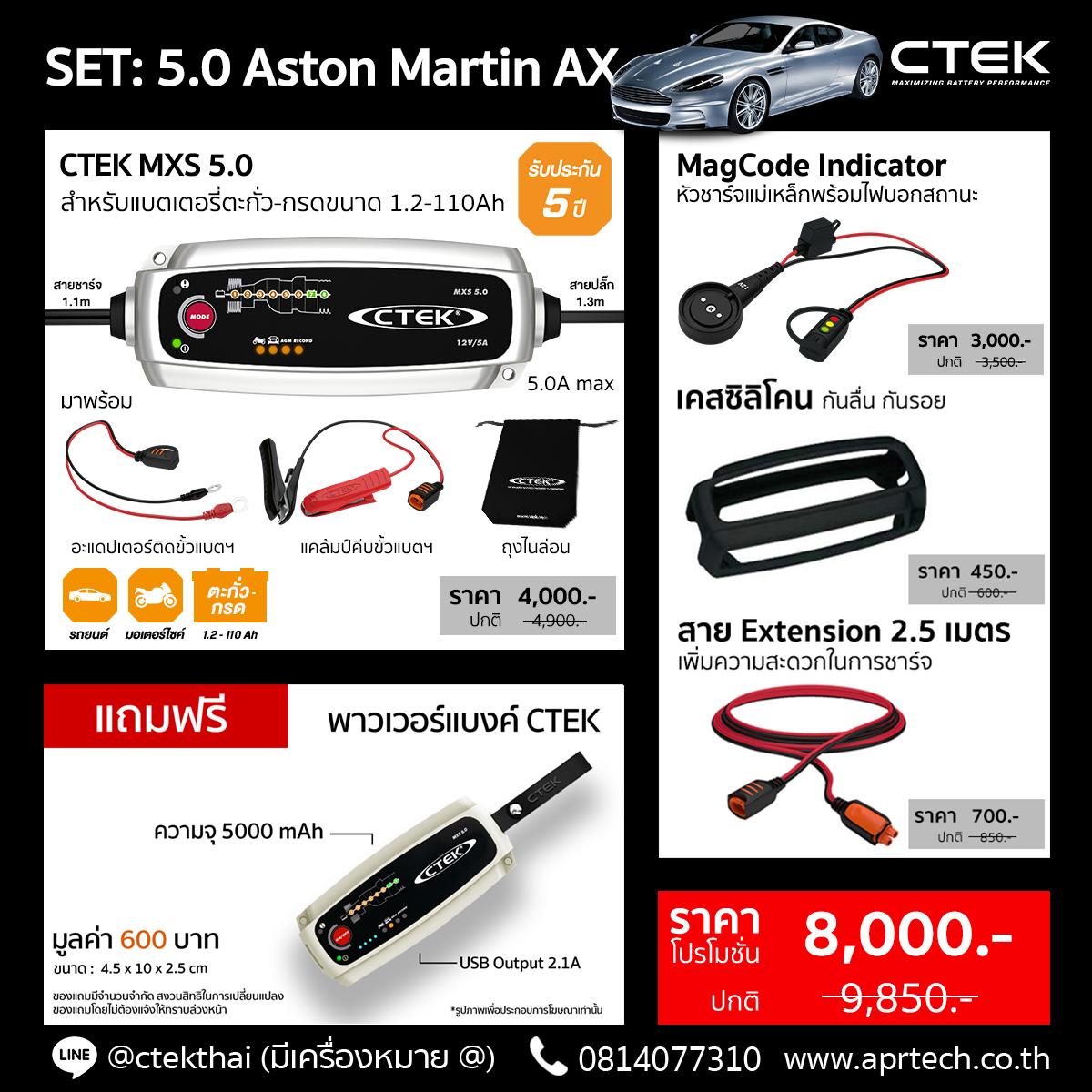 SET 5.0 Aston Martin AX (MXS 5.0 + MagCode Indicator + Bumper + Extension 2.5)