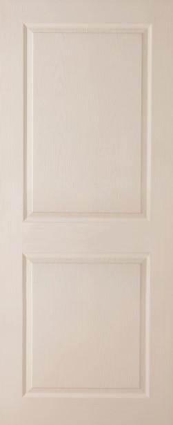 ประตูHDF บานลูกฟัก เบญจมาศ รองพื้นสีขาว