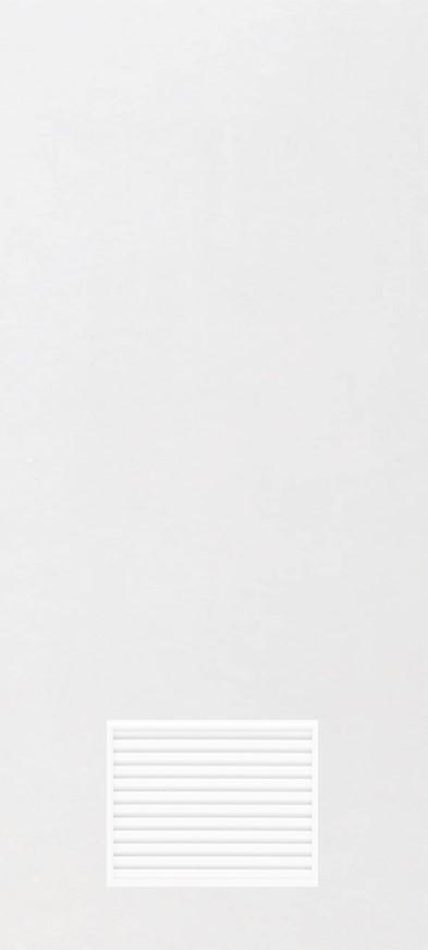 ประตูUPVC ผิวหน้าเรียบ สีขาว บานเรียบ เจาะเกล็ดเล็ก 1/4