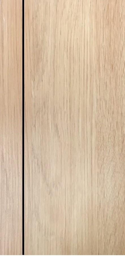 ประตูUPVC ผิวหน้าลายไม้ สีYellowAsh บานเรียบ เซาะร่อง 1 เส้นตรง