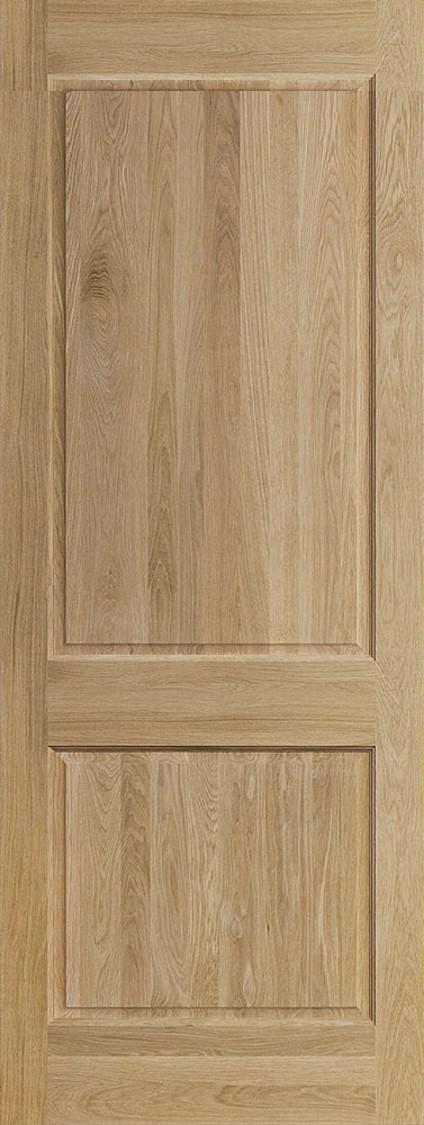 ประตูไม้โอ๊คเอ็นจิเนียร์ บานลูกฟัก 2 ช่องตรง (ไม่รวมทำสี)