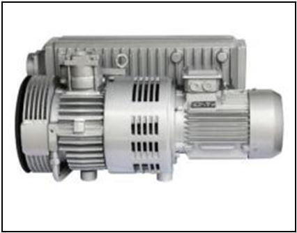 Oil rotary vane vacuum pump