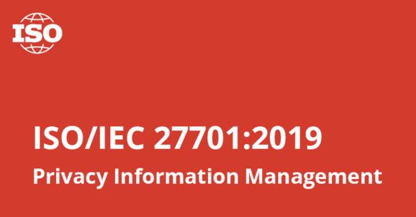 ISO ออกมาตรฐานใหม่ ISO/IEC 27701:2019 Privacy Information Management