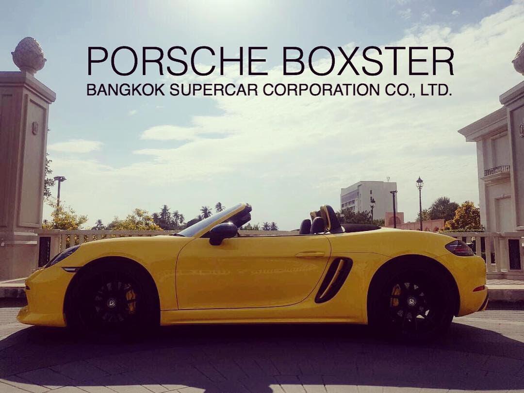 ให้เช่า PORSCHE BOXSTER รถหรูเปิดประทุนให้เช่าสำหรับถ่ายหนัง ถ่ายละคร