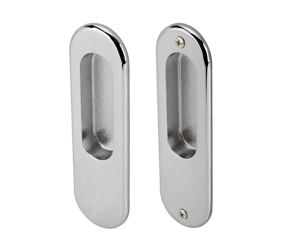 มือจับประตูซิงค์อัลลอยด์ พร้อมอุปกรณ์ล็อคประตูบานเลื่อน รุ่นมาตรฐาน