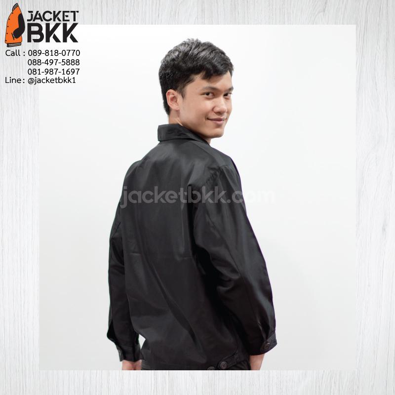 ผลงาน - เสื้อแจ็คเก็ตนำเข้า คอปกสีดำ พร้อมงานปัก #คณะสัตวแพทย์ศาสตร์