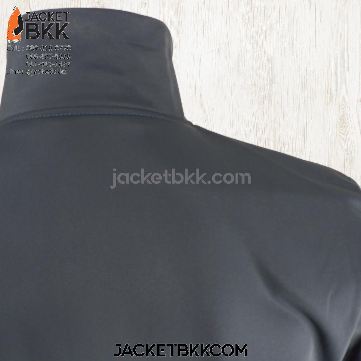 ร้านขายส่ง เสื้อแจ็คเก็ตผ้าขูดขน สีกรมท่าเข้ม โบ๊เบ๊ - บริการปักสกรีน