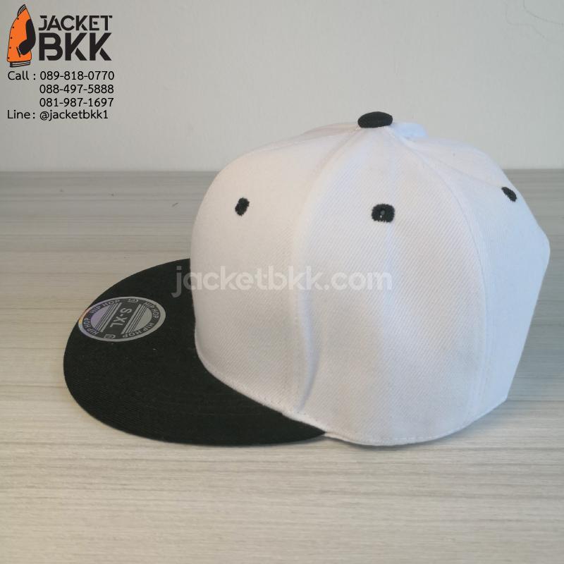 หมวกฮิปฮอป สีขาวดำ
