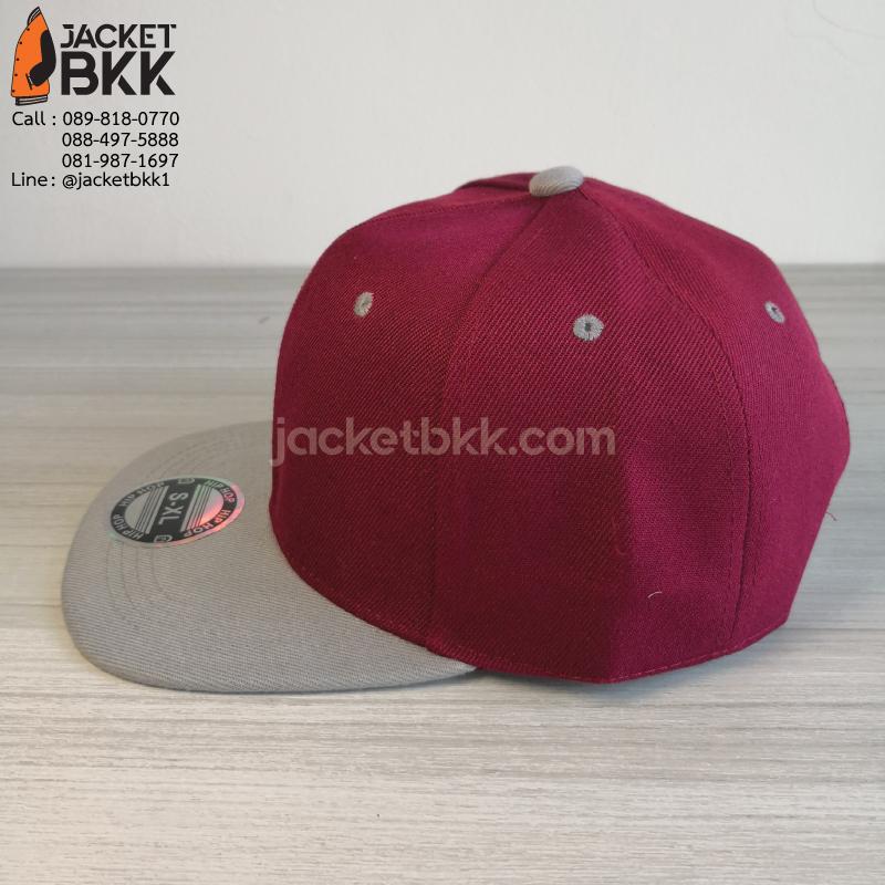 หมวกฮิปฮอป สีเลือดหมูเทา