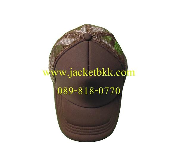 หมวกแก๊ปผ้ามองตากูท์ ชนิดเสริมฟองน้ำด้านหน้า สีน้ำตาล