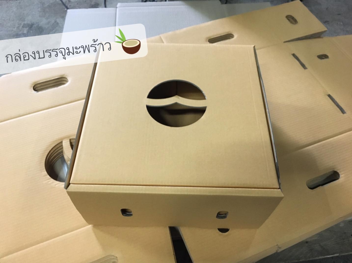 กล่องผลไม้ กล่องใส่มะพร้าว