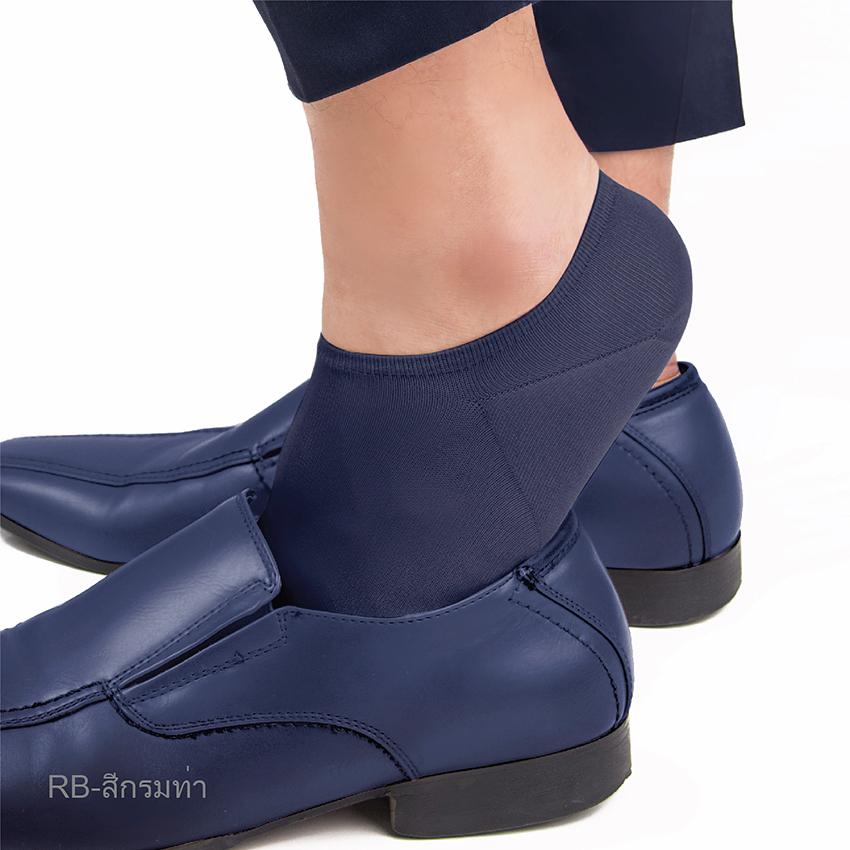 ถุงเท้าข้อสั้น No Show Sock รหัส SRMRIN สีกรมท่า ขนาดมาตรฐาน