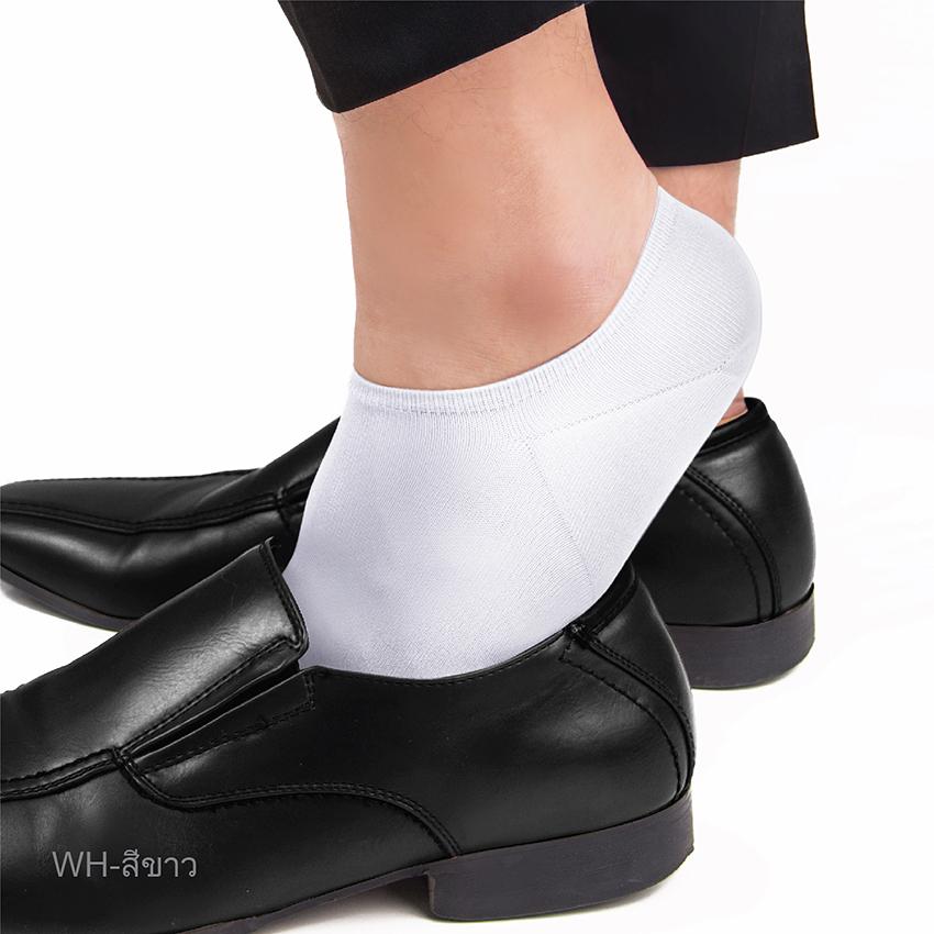 ถุงเท้าข้อสั้น No Show Sock รหัส SRMRIN สีขาว ขนาดมาตรฐาน