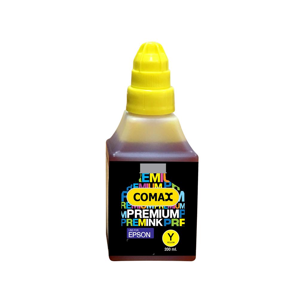 หมึกเติมสำหรับ EPSON สีเหลือง 200 ml. โคแมกซ์