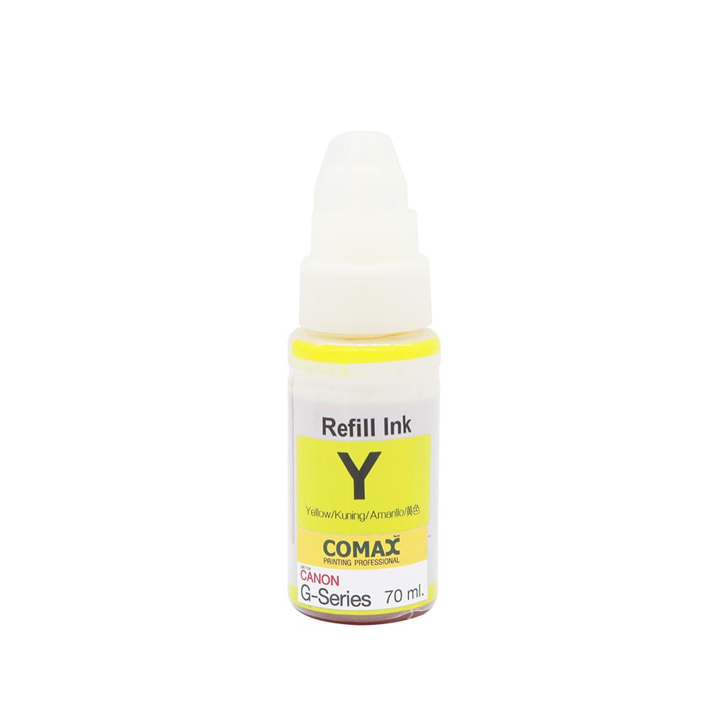 หมึกเติมสำหรับ CANON สีเหลือง 70 ml. โคแมกซ์