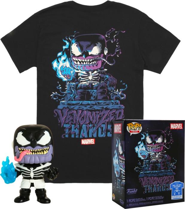 Funko Pop! Tee Box Set : Venomized Thanos