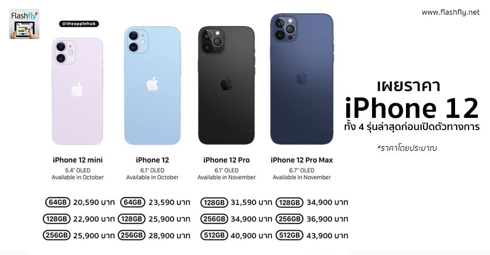 ราคา IPHONE12 ทุกรุ่น 2020