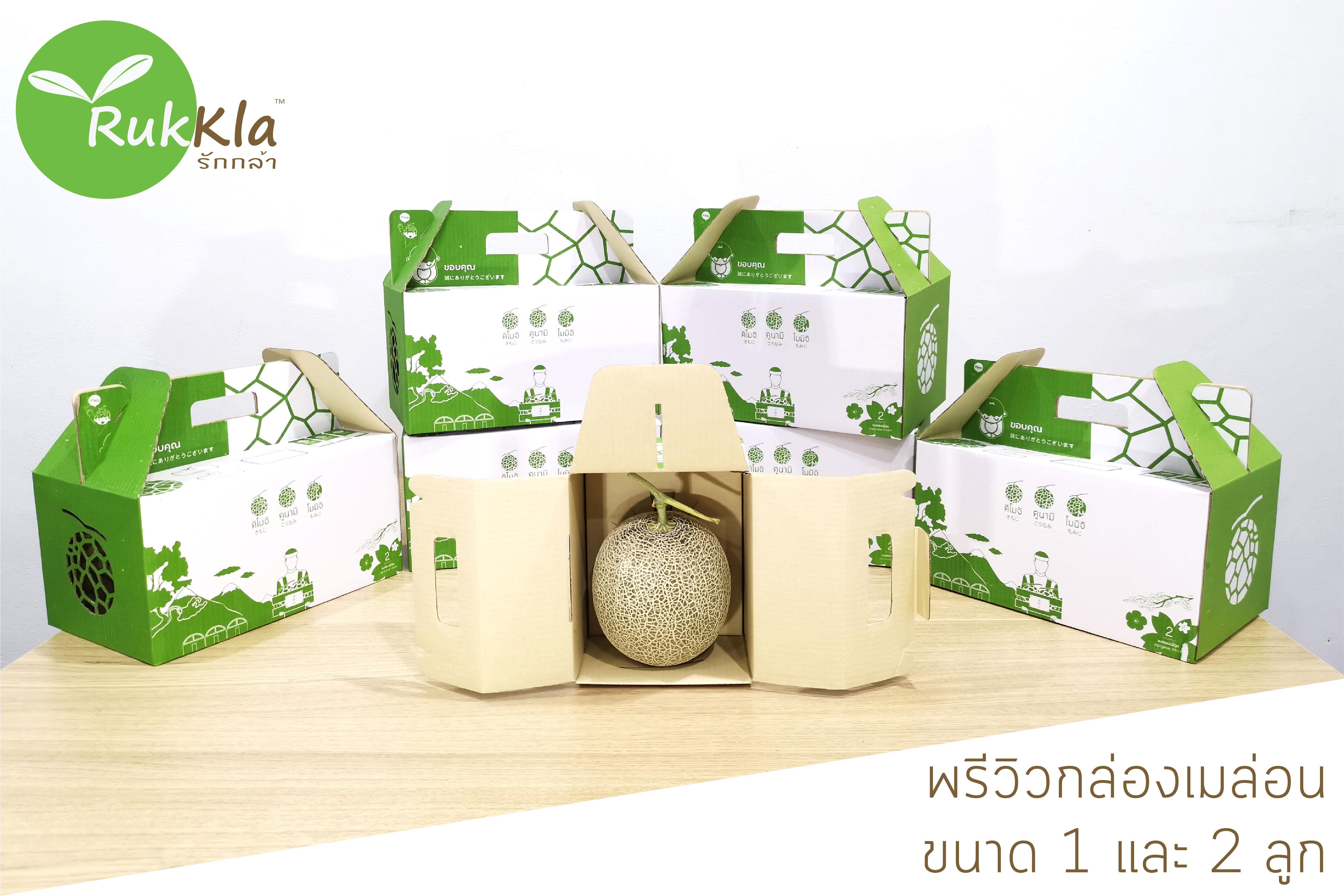 พรีวิวกล่องเมล่อนญี่ปุ่น ออกแบบพิเศษโดย Rukkla.com